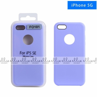 Ellie FO101 custodia cover in silicone con cerchio per logo per Iphone 5g lavanda