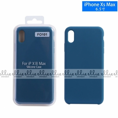 Ellie fo101 custodia cover in silicone per Iphone XS max space blue