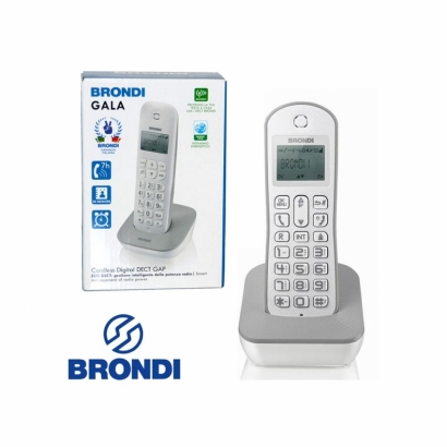 Brondi telefono cordless digitale bianco