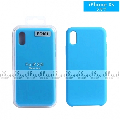 ELLIE FO101 CUSTODIA IN SILICONE PER IPHONE X/XS AZZURRO