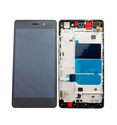 TOUCHSCREEN + DISPLAY LCD DISPLAY COMPLETO + FRAME PER HUAWEI ASCEND P8 LITE