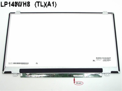 Display notebook lp140wh8 tla1 hb140wx1-300 b140xtn02.3 lp140 40pin
