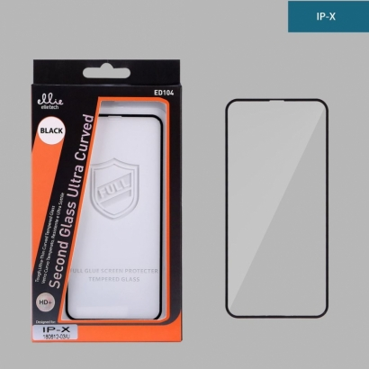 Ellie ed104 pellicola di vetro temperato full glue 4d per Iphone X/xs nero
