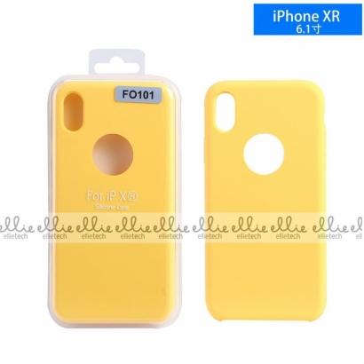 Ellie FO101 custodia cover in silicone con cerchio per logo per Iphone XR