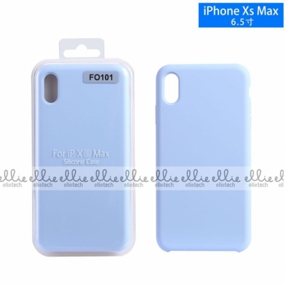 Ellie fo101 custodia cover in silicone per Iphone XS max celeste