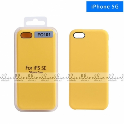 Ellie FO101 custodia cover in silicone per Iphone 5 giallo