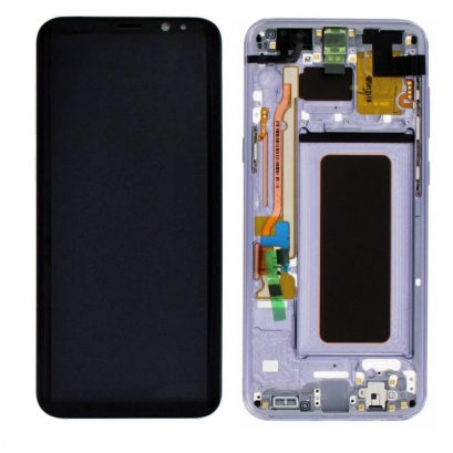 Display lcd + touch completo con frame per Samsung Galaxy s8 plus + / g955f originale Argento