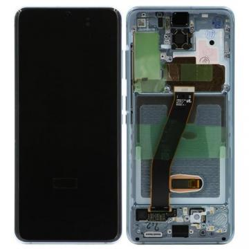 TOUCHSCREEN + DISPLAY LCD DISPLAY COMPLETO + FRAME PER SAMSUNG GALAXY S20 G980F ORIGINALE