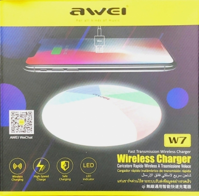 Awei w7 caricatore wireless con ricarica rapida
