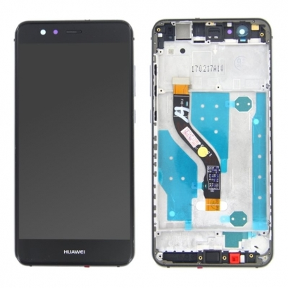 Display lcd + touch completo con frame per Huawei p10 lite nero
