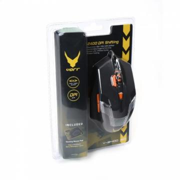 OMEGA OM0266 VARR MOUSE PER VIDEOGIOCO DPI(800-2400) con gaming mouse pad