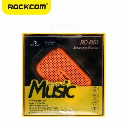 Rockcom rc-bs1 mini cassa audio bluetooth resistente all'acqua arancione