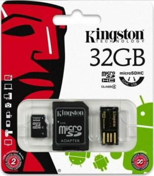 Kingston memoria card microsdhc 3in1 mbly4g2 32GB