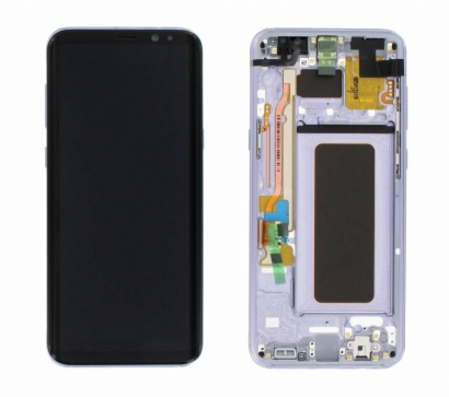Display lcd + touch completo con frame per Samsung Galaxy s8 plus + / g955f viola