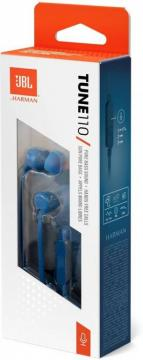 JBL TUNE110 IN-EAR HEADPHONESE SUPERIOR JBL SOUND ONE BUTTON CONTROL HEADSET SPORTS EARBUDS